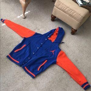Vintage Jordan Hoodie Knicks Colorway
